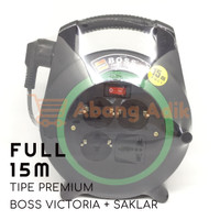 Victoria Boss Turbo 15 m Saklar Kabel Roll Cable Rol Extension meter
