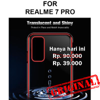 Case Realme 7 Pro softcase casing cover silikon transparan TPU PLATING