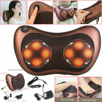 Electric Lumbar Neck Back Massage Pillow Massager Kneading Cushion