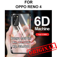 Case Oppo Reno 4 softcase casing cover silikon transparan TPU PLATING