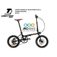 Sepeda lipat united black horse batik x parang kencana Limited edition