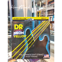 DR Strings K3 Neon Hi Def Yellow Bass NYB 40 100 Senar Bass Warna T29