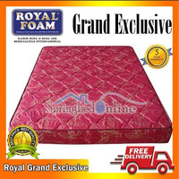 OJ439 Kasur Busa Royal Foam Grand Exclusive 160 x 200 Tebal 18 Cm Grs