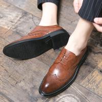 Inggris Diukir Bernapas Pria Sepatu Pakaian Resmi Pesta Berkualitas