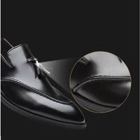 Musim Panas Pria Pakaian Resmi Sepatu Rumbai Kulit Lembut Pesta