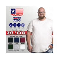 Kaos Polos NSA Premium Cotton JUMBO SIZE 3XL XXXL New States Apparel 7
