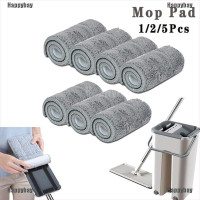 Happybay✪ 1/2/5Pcs Reusable Microfiber Mop Pads Head Wet Dry Mops
