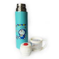 Termos Karakter DORAEMON + Tutup Gelas / Botol Minum Stainless 500ml