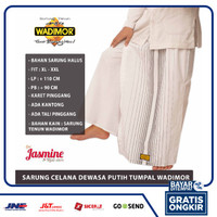 sarung celana wadimor putih polos tumpal ukuran jumbo pria dewasa