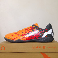 Sepatu Futsal OrtusEight Blizzard IN Tangerine Grey 11020007 Original