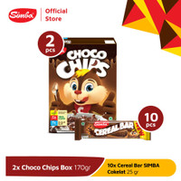 Cereal SIMBA - 2 Choco Chip Box 170gr + 10 Cereal Bar