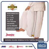 STS sarung celana wadimor putih polos tumpal ukuran jumbo pria dewasa