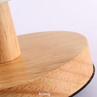WONDERFULL Lampu Meja Led Usb Dimmable Modern Dengan Base Kayu Remote