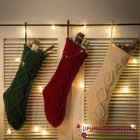 Kaos Kaki Gantung Bahan Rajut untuk Dekorasi Natal