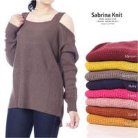 SABRINA SWEATER - baju rajut pum - sweater rajut korea - sweater