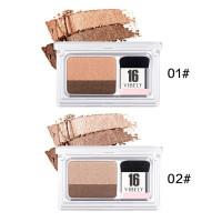 16 Eyeshadow two VIBELY Palet Lazy ORI tone Gradasi Shimmer