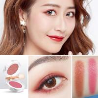 Palet Eyeshadow Two-tone Matte Glitter Tahan Air