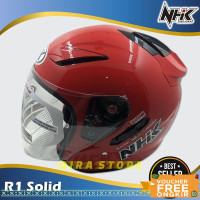 helm half face/Helm NHK Motor SNI HalfFace Helem Dewasa Double Visor14