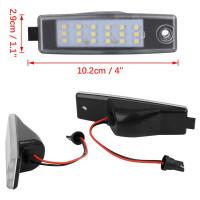 Lampu Plat Nomor LED Warna Putih untuk Aksesoris Mobil