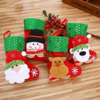 Ornamen Gantung Bentuk Kaos Kaki Santa Claus untuk Dekorasi Natal