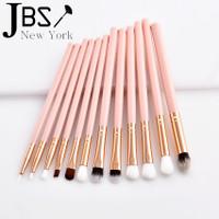 SD JBS New York Kuas Makeup Eyeshadow Brush 12 Set Pink Kosmetik Mata