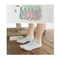 KK010 Kaos Kaki Pendek Happy Tree Wanita Low Socks - Ungu