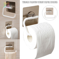 Tissue Roll Rack Self Adhesive Tissue Holder Punch-free Sticky Ha O107