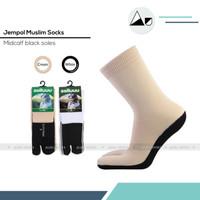 Kaos kaki jempol telapak hitam panjang sebetis ( Putih dan cream ) - P