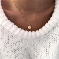 Three Meteor Necklace Female Fren Light Star Necklace and American