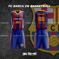 Threepoint Jersey Basket FC Barca Barcelona Setelan Keren