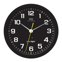 Jam Dinding Stylo Glow in The Dark Diameter 34cm Sweep dengan