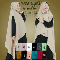 Hijab Khimar Cardi Virra Syari