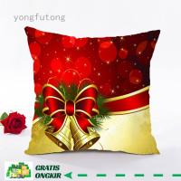 Sarung Bantal Bahan Linen Motif Natal Untuk Dekorasi Rumah