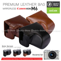 Mantab Canon EOS M6 Premium Leather Bag / Case / Tas Kamera Kulit Mirr