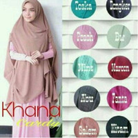 Hijab Khimar Milla Cardy buble crepe / KHIMAR SYARI CARDI KHANA / KHIM