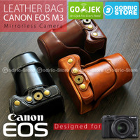 New Canon EOS M3 Leather Bag / Case / Tas Kamera Kit 15-45 MM / 18-55