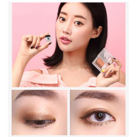 Lazy two-tone gradient eyeshadow earth color matte nude makeup net