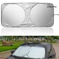 e1 Tirai Pelindung Panas Matahari Anti Uv Untuk Kaca Depan Mobil