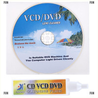 FunDVD VCD Player Laser Head Lens Cleaner Dry&Wet Disc Cleaning Kit