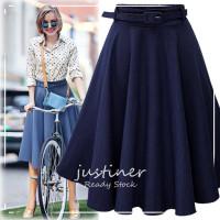 Rok Wanita / Rok Jeans / Rok Plisket / Rok Ala Korea / Denim Skirt