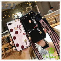 iPhone 11 Pro Max 6 6S 7 8 Plus X Casing Case Warna Merah dengan Tali