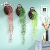 1Pc Rangkaian Tanaman Willow 65cm 4 Pilihan Warna untuk Dekorasi