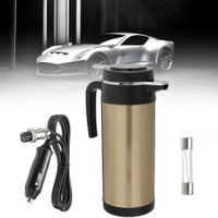 1200ml 12V Stainless Steel Car Electric Heated Water Kettle Steel