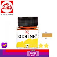 High Quality Royal Talens Ecoline Liquid Watercolour 30ml - GOLD 801