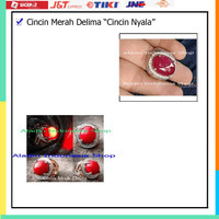 Alat Sulap Batu Akik Nyala - Cincin Ajaib - Cincin Merah Delima -