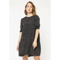 Colorbox Polkadot Mini Dress I:Diwkey220L026 Black