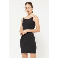 Colorbox Thin Strap Dress I:Dikfct220L024 Black