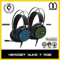 PH Armaggeddon 7.1 Surround Sound RGB Gaming Headset Nuke 7 Garansi 1