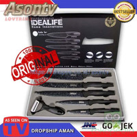Home Stuff QE1151 Knife Set Pisau Dapur Lapisan Keramik Anti Bakteri