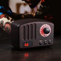 Speaker Bluetooth Klasik Retro 5W Loudspeaker Support TF Card AUX FM